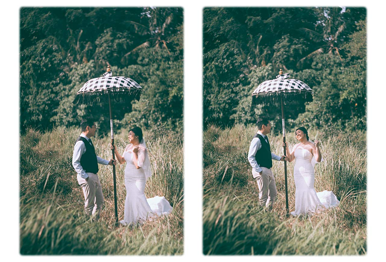 Bali pre-wedding photography vintage equipment