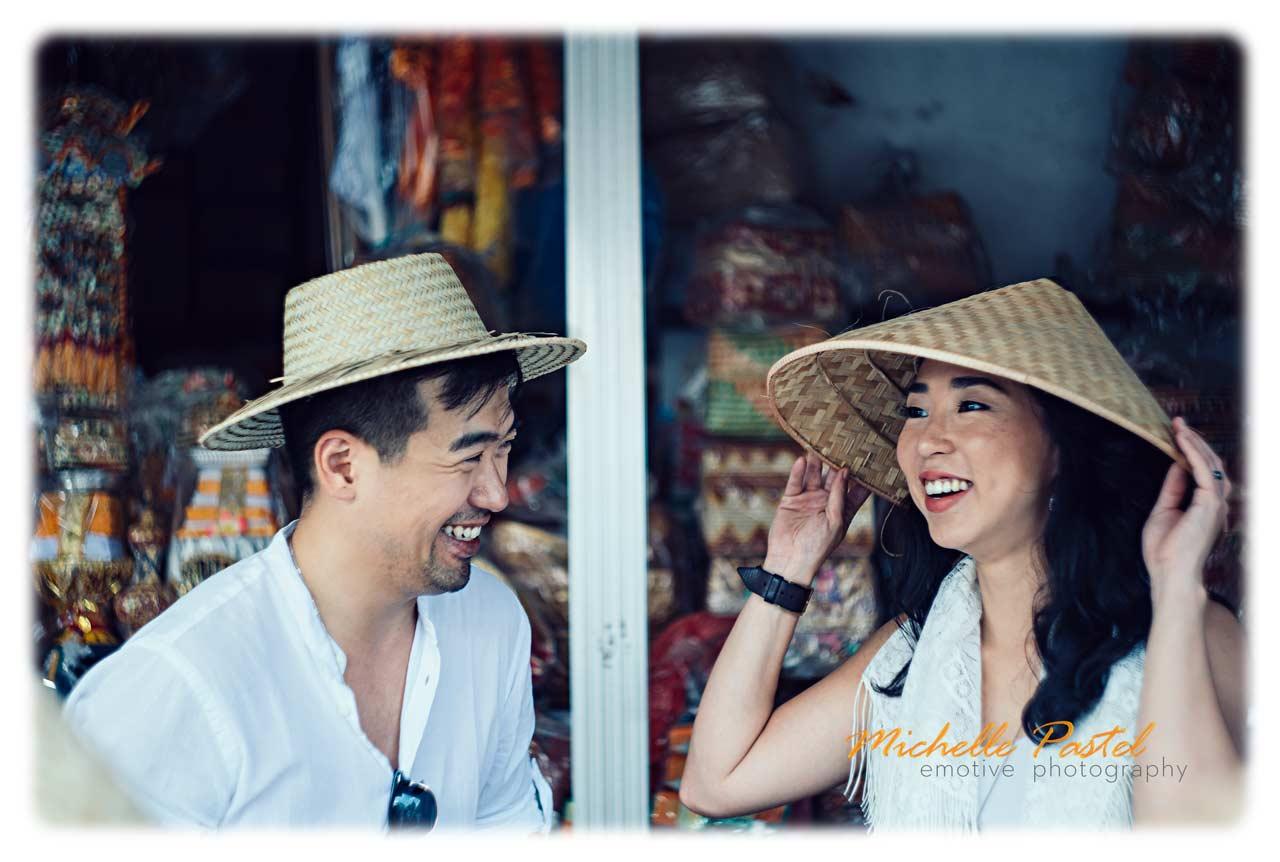 pre wedding photos in a traditional Bali village