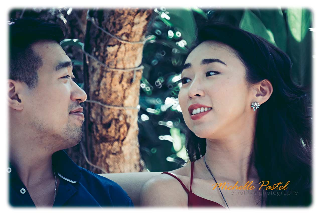 Bali pre wedding photos in street portraiture style