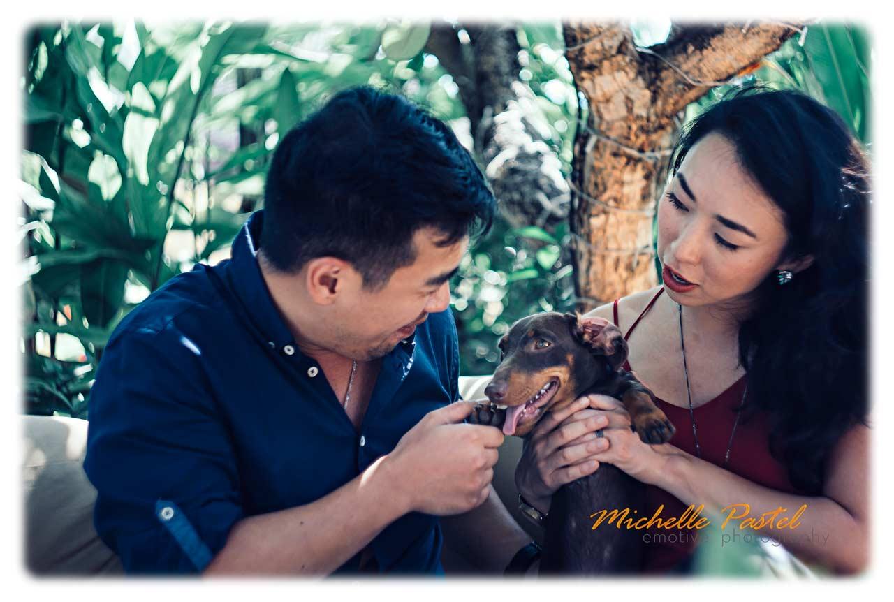 Bali pre wedding photos with animals